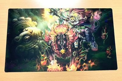 E344 Free Mat Bag Yugioh Card Game Playmat Ritual Beast Ulti-Apelio Play Mat