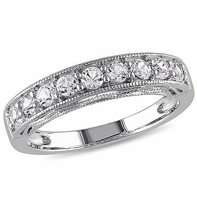 Amour Sterling Silver White Sapphire Ring