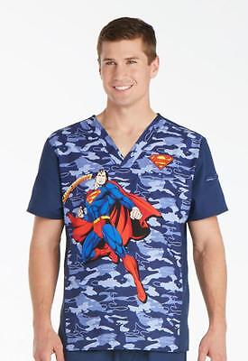 Superman V Neck Scrub Top