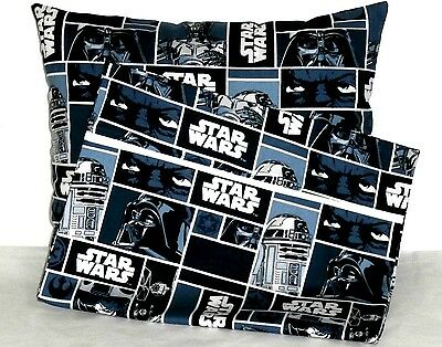 Star Wars Toddler Pillow and Pillowcase on multi-color Cotton SW4-2 New Handmade