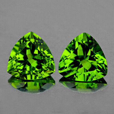 IF~TRILLIANT 7mm AAA+ EXCELLENT GREEN PERIDOT NATURAL LOOSE GEMSTONE PAKISTAN