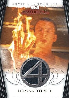 2008 UD Marvel Masterpieces 2 HUMAN TORCH FANTASTIC FOUR COSTUME RELIC CARD
