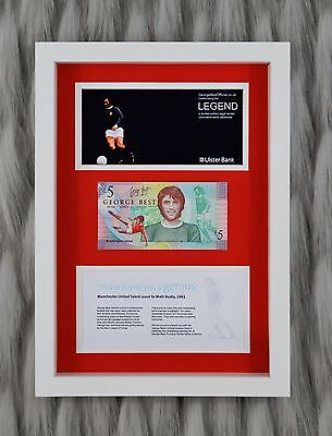 George Best Manchester United £5 Pound Bank Note Fiver 3D Box Framed Gift Idea