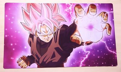 F954 Free Mat Bag TCG CCG Playmat Large Mouse Pad Dragon Ball Super Goku Black