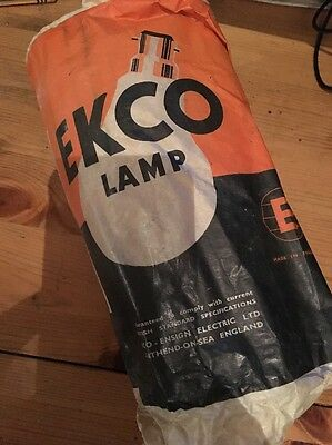 Vintage Ekco 1950s 500W 240V Photoflood Bulb Pearl New Old Stock Bayonet Fitting