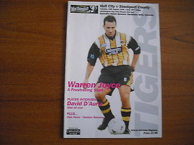 HULL CITY v STOCKPORT COUNTY - AUGUST 18th 1998
