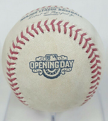 2016 Chicago Cubs Game Used Opening Day Ball 4/11/16 Mlb Authentic #jb327155