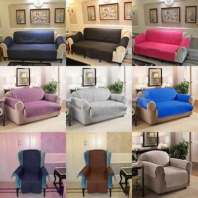 1/ 2/ 3-Seater Furniture Protector Quilted Slipcover Sofa Seat Waterproof Cover