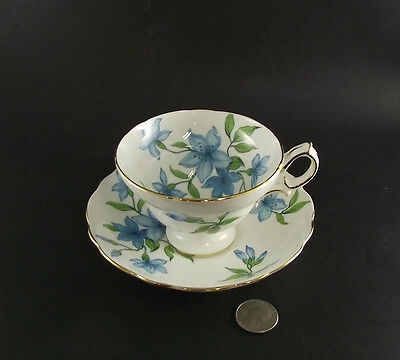Blue Hammersley  Cabinet Tea Cup And Saucer