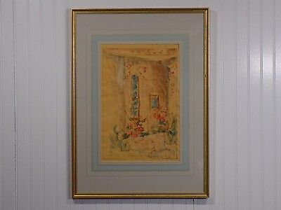 Vintage 1989 JON NEIFORD Original Certified Wash Drawing on Velum Hallington I