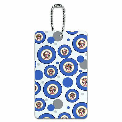 Luggage Card Suitcase Carry-On ID Tag State Flag