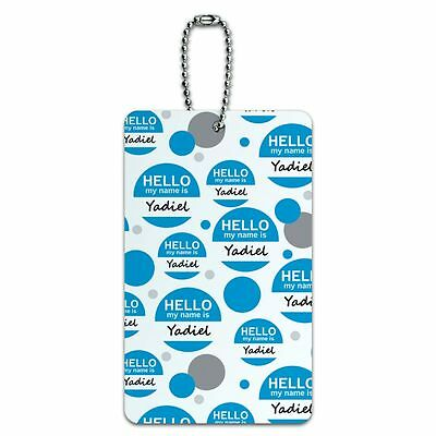Luggage Card Suitcase Carry-On ID Tag Hello My Name Is Ya-Yv