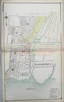 1914 Massapequa Nassau Reproduction Long Island Ny Plat Atlas Map