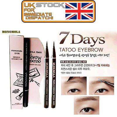 Monomola 7 Days Eyebrow Tattoo Pen Liner Long Lasting Makeup Black & Brown