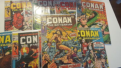 Marvel Comic Lot conan the barbarian 1-24 original 23 24 red sonja fn bagged boa