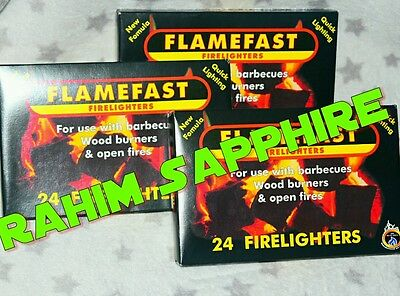 Flamefast Firelighters 5 packs of 24 = 120  For Fires Log burners & Stoves
