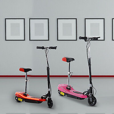 120W Ride on Electric Scooter Portable Folding Adjust Children Adult w/ Seat