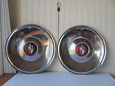 2 1956 1957 Lincoln Capri Hubcaps Wheel Covers Wheelcovers
