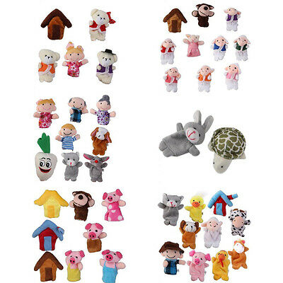 Set Family Finger Puppet Baby Educational Toy Story Kids Gift Nursery Fairy Tale