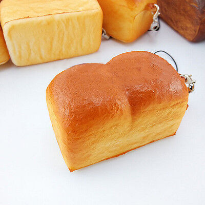 1X Jumbo Loaf Simulation Bagels Squishy Soft phone Charm Bread Scented Strap HK