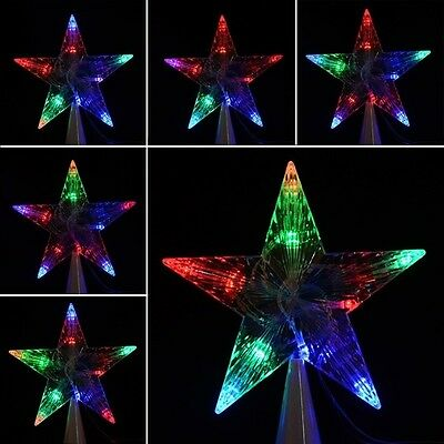 Large Christmas Tree Topper Star Lights Lamp Multi Color Decoration 100-240V a1h