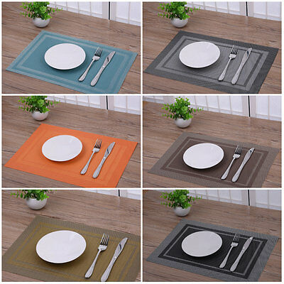 4 * PVC Bowl Placemats Dining Pad Western Table Mats Decoration Heat Insulation