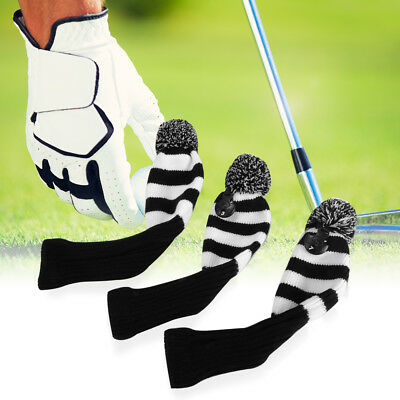 3x Golf Club Knitted Headcover Head Covers For Titleist Taylormade 1/3/ 5# OS426