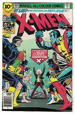 Marvel Comics THE UNCANNY X-MEN Issue 100 A Battle To The Death! Professor X FN