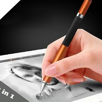 2 in1 For iPhone iPad Tablet PC Capacitive Pen Touch Screen Drawing Pen Stylus