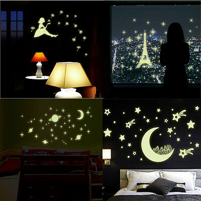 Home Wall Glow In The Dark Removeable Star Stickers Decal Dreamy Noctilucent New