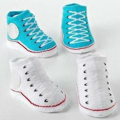 Cartoon Baby Girl Boy Anti-slip Socks Slipper Shoes Sock 0-12 Month Sole Crib