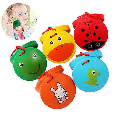 UP Wooden Castanets Musical Percussion Wooden Instrument Kids Educational Toys