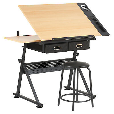 Outstanding Hartleys Drawing Table With 2 Drawers Drafting Bench Artists Uwap Interior Chair Design Uwaporg