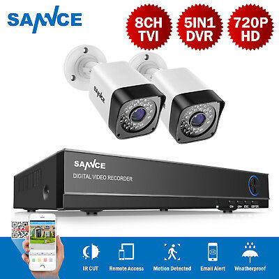 SANNCE 4CH 720P DVR 1200TVL Video Outdoor Indoor CCTV Camera Surveillance System