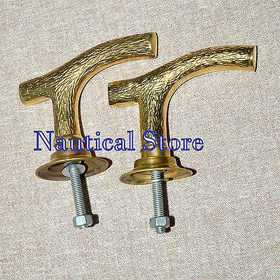 Vintage Pair Brass Hand Door Handle Art Knob Hand Handle Décor 2 pics