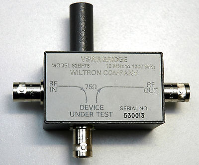 Wiltron (Anritsu) 62BF75 VSWR Bridge 10 MHz to 1 GHz BNC, RARE!