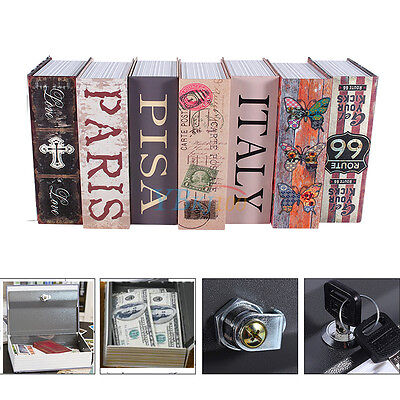 Dictionary Book Secret Safe Security Box Storage Money Cash Jewelry With 2 Keys