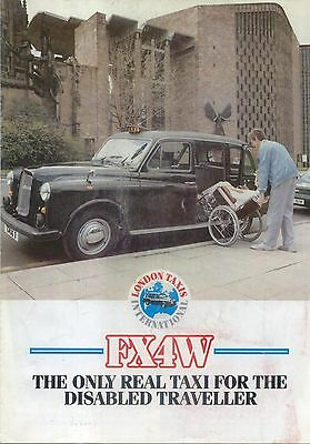 LTI London Taxis International FX4W Taxi Disabled Passenger Brochure Austin