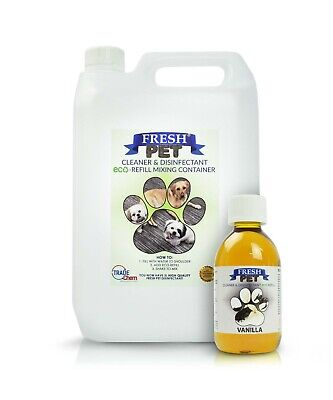 5L FRESH PET Kennel Cattery Disinfectant, Cleaner, Deodoriser - VANILLA