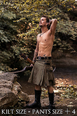 V-Kilt with Cargo Pockets by Verillas, Real Cotton fitted quality, Utility Style