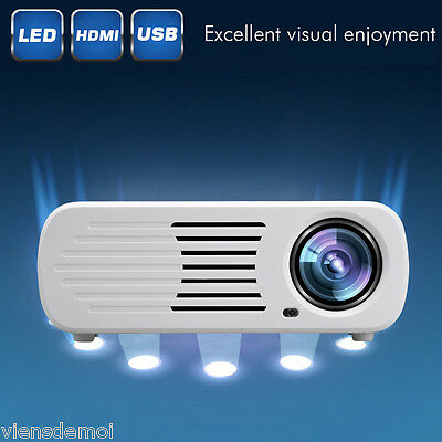 1500Lumen Mini 1080P LED Projector Home Theater 3D HDMI USB VGA AV ATV SD 1500:1