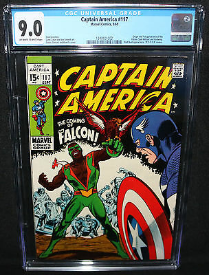 Captain America #117 - Origin and 1st App of the Falcon - CGC Grade 9.0 - 1969