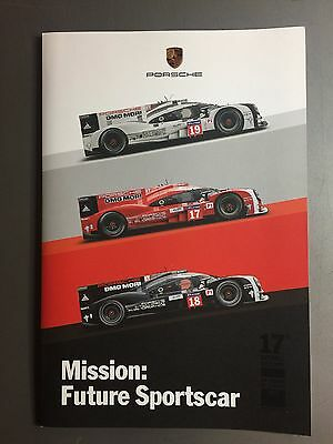 2015 Porsche Winning 17th 24 Hours of Le Mans Victory Mission Photo Book RARE!!