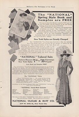 1909 National Cloak & Suit Co New York NY Ad: Tailored Suits Made to Measure