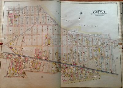 1908 E. Hyde Glendale Middle Village Lutheran Cemetery Queens Ny Plat Atlas Map