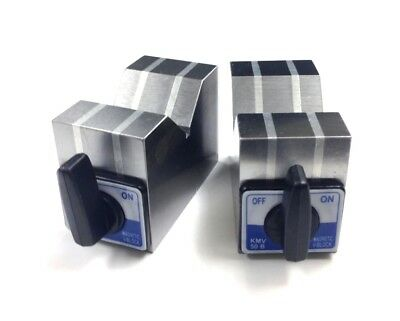 4 X 2 X 6 Aluminum Cast Magnetic V-Block Set (3402-0902)
