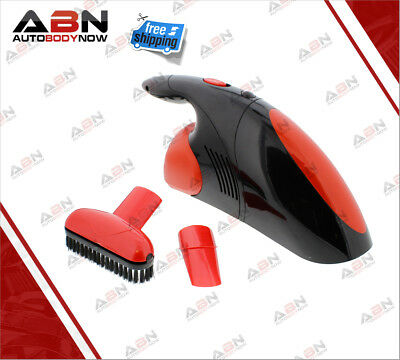 ABN 12V Car Vacuum Cleaner, Compact with Brush & Narrow Nozzles, Removable Bowl