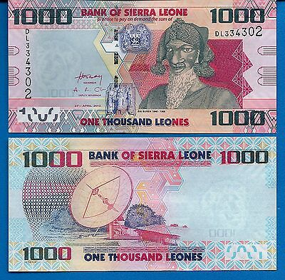 Sierra Leone P-30 1000 Leones Year 2010 Uncirculated FREE SHIPPING