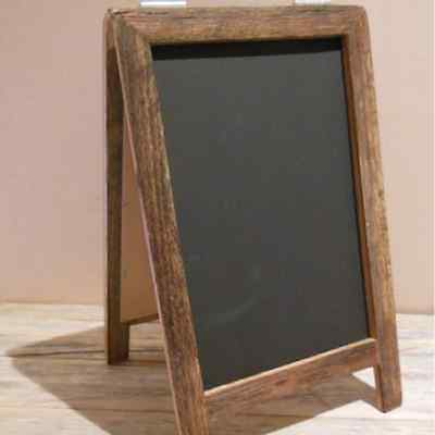 Small A-Frame Chalkboard, Recycled Timber, Rustic Blackboard,