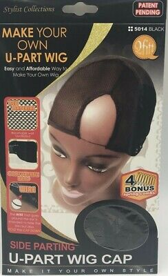"""Qfitt Make Your Own Wig Side Parting U-Part  Wig Cap #5014 """"new"""""""